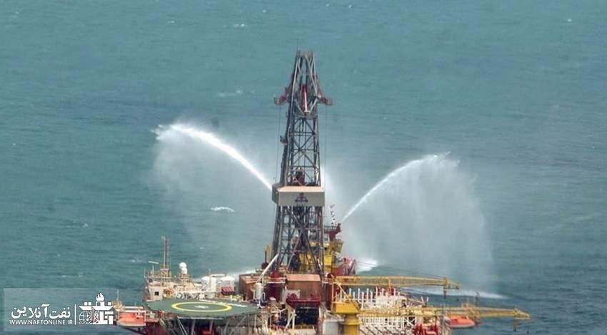 سکوی حفاری امیر کبیر در دریای خزر | میدان نفتی سردار جنگل | نفت آنلاین