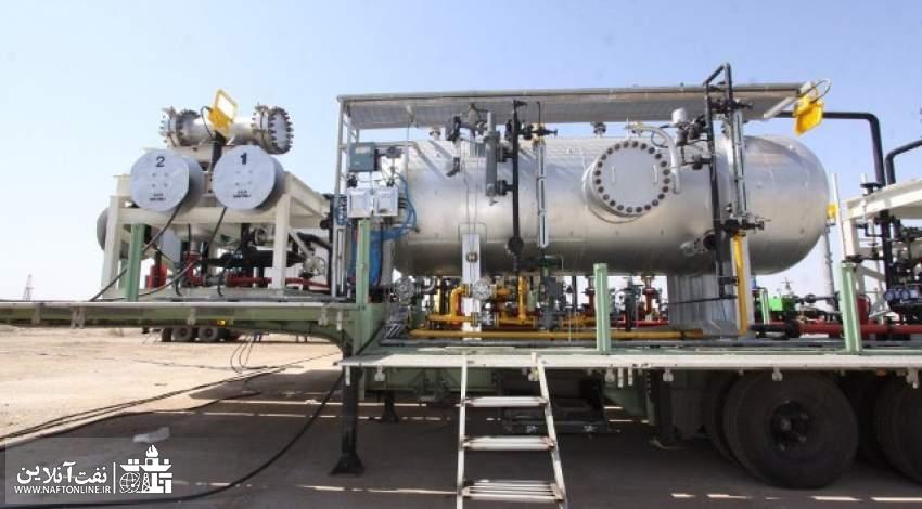 فرآورش ۲۲۵ هزار بشکه نفت در مناطق نفتخیز جنوب با استفاده از واحدهای فرآورشی سیار