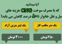 صرفه جویی با مصرف سوخت CNG | نفت آنلاین