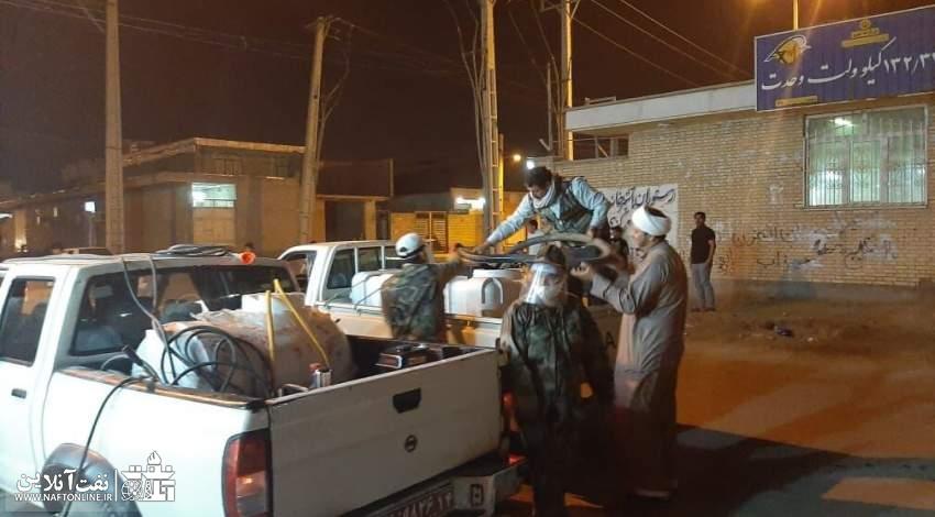 گندزدایی و ضدعفونی مناطق حاشیه شهر اهواز | نفت آنلاین