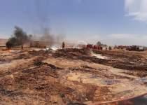 آتش سوزی خط لوله نفت در جنوب | نفت آنلاین