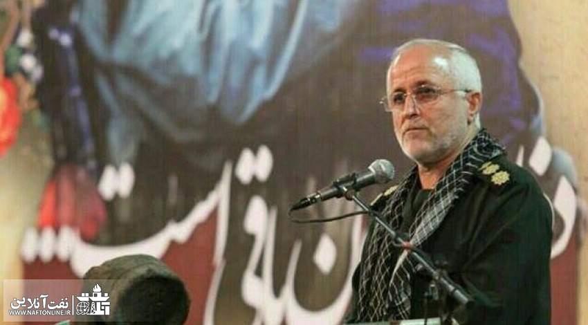 سرهنگ عباس ممبینی فرمانده حوزه مقاومت بسیج شهید تندگویان