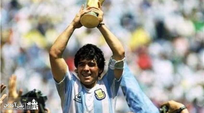زیباترین عکس از دیگو مارادونا ستاره فوتبال آرژانتین