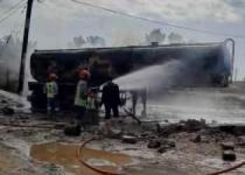 آتش سوزی تانکر سوخت در اهواز