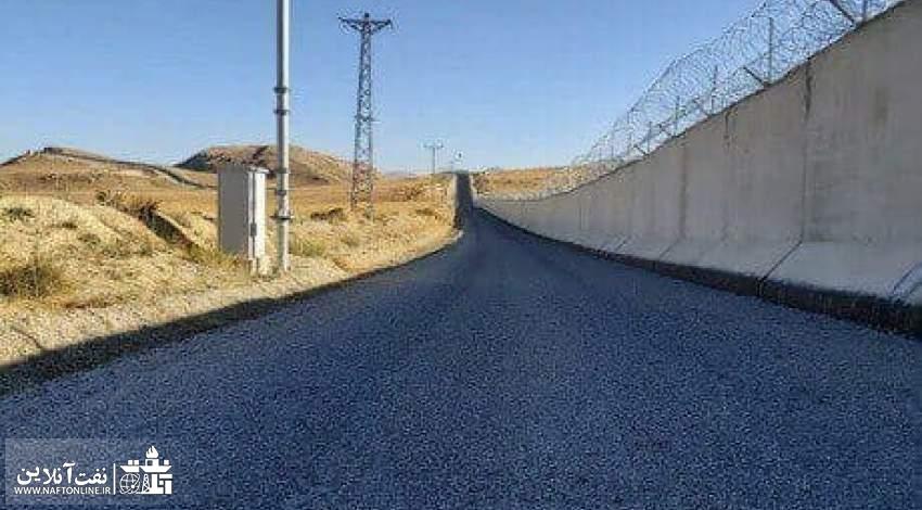 تصویری از دیوار ساخته شده بین مرز ایران و ترکیه