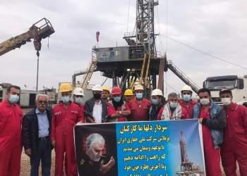 شهید سپهبد حاج قاسم سلیمانی | دستگاه حفاری شرکت ملی حفاری ایران