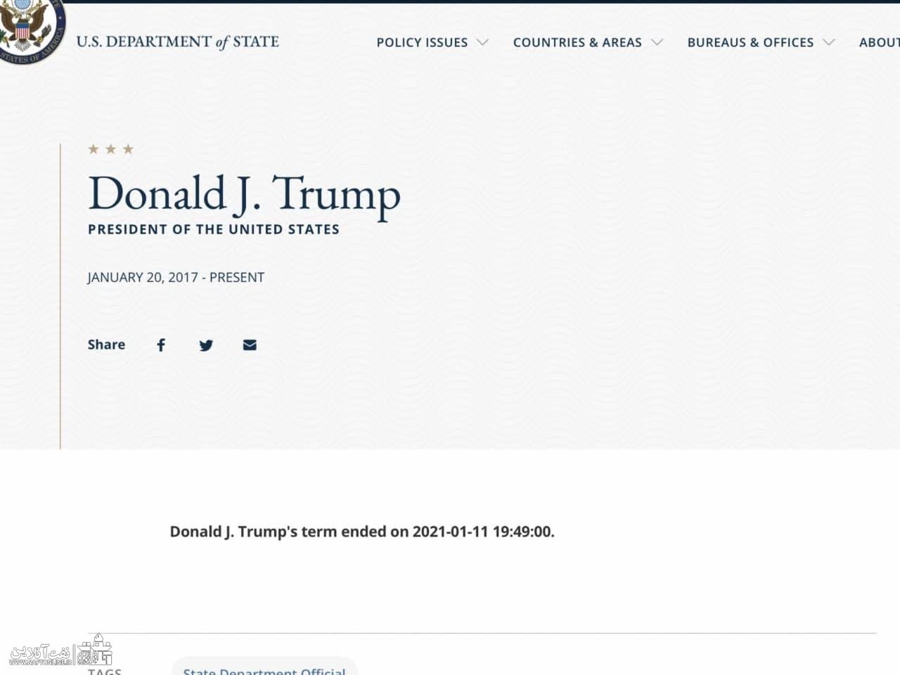 دونالد ترامپ و پایان تلخ ریاست جمهوری