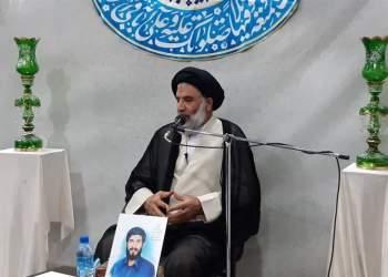 حضور نماینده ولی فقیه در استان خوزستان در شهر دارخوین خوزستان
