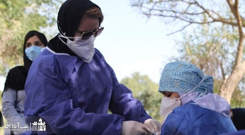 واکسیناسیون کرونا در بیمارستان بزرگ نفت اهواز   نفت آنلاین