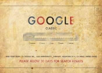 تصویر بسیار قدیمی از گوگل