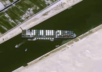 تصویر کشتی ای که کانال سوئز را مسدود کرده | نفت آنلاین