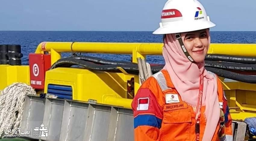 بانوی مسلمان شاغل صنعت نفت اندونزی | نفت آنلاین