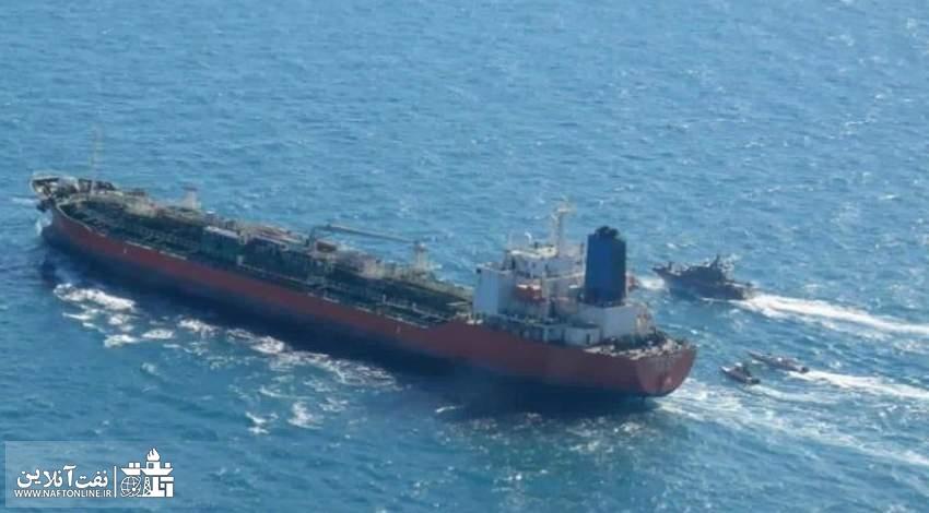 تصویر نفتکش کره جنوبی در آب های ایران | نفت آنلاین