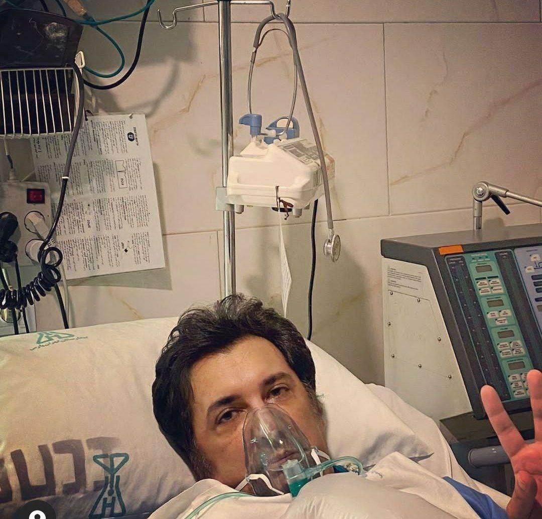 تصویری از نواب صفوی در بخش آی سی یو بیمارستان