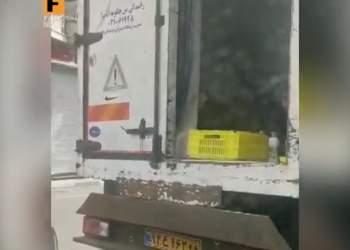 کلیپ کامیون شیر فاسد در تهران