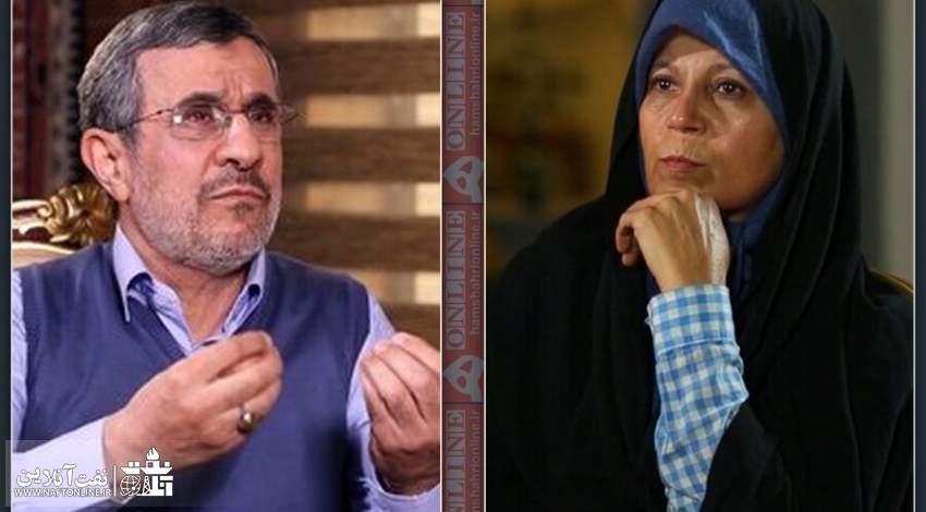 احمدی نژاد و تکذیب ادعای فائزه هاشمی