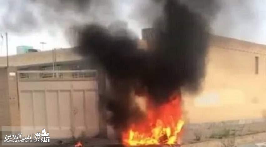 عکسی که خبرگزاری مهر از سقوط این پهپاد منتشر کرده است.