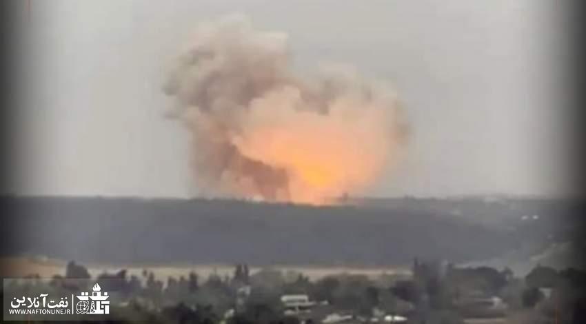 تصویر انفجار در مرکز هسته ای نظامی اسراییل