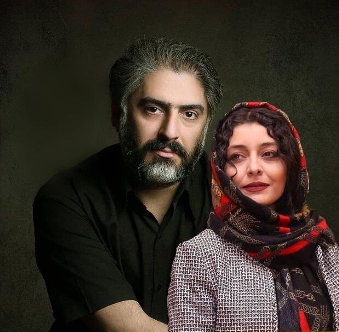 تصویر ساره بیات و همسرش
