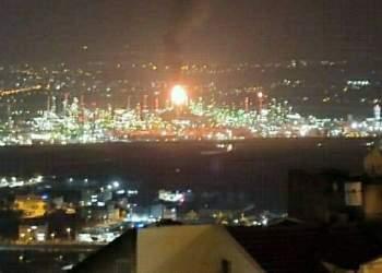 انفجار در پالایشگاه حیفا