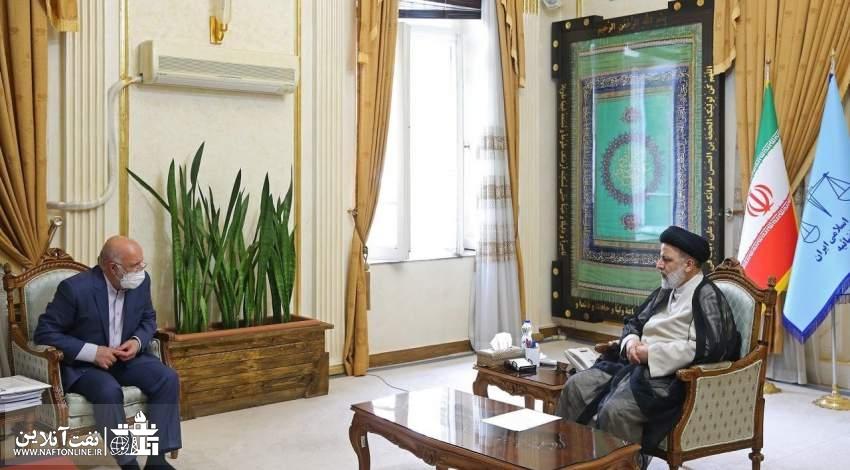 دیدار زنگنه و رییسی   نفت آنلاین
