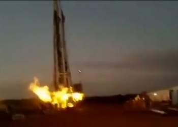 آتش سوزی دکل حفاری   نفت آنلاین