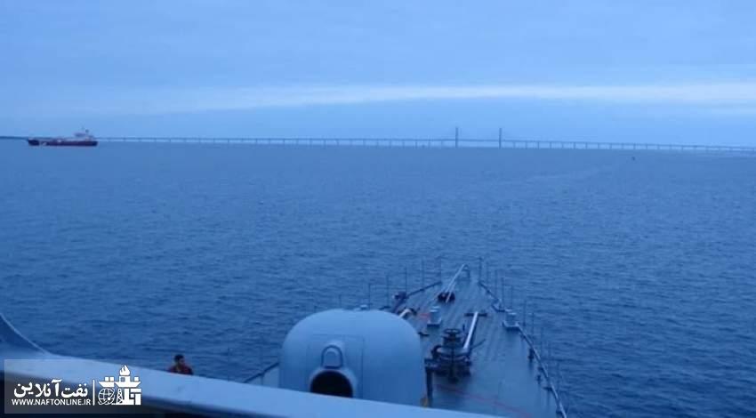 تصویر عرشه ناوشکن سهند در سواحل روسیه