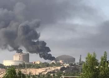 تصویری که از آتش سوزی پتروشیمی جزیره خارگ منتشر شده است | نفت آنلاین