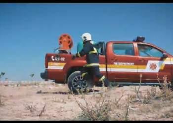 تجهیز خودروی آمیکو آسنا به سیستم واترمیست جهت استفاده در عملیات اطفاء