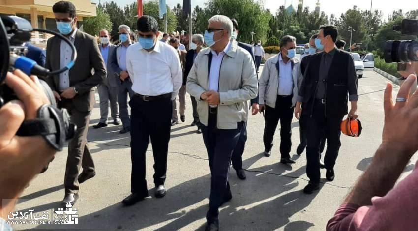 عکسی از حضور جواد اوجی در پالایشگاه تهران | نفت آنلاین